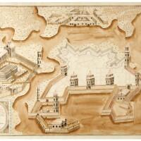 36. portsmouth, 2 manuscript plans by coltz, [c.1763]
