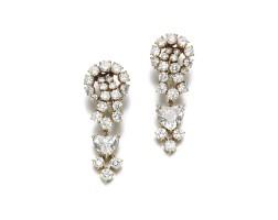 243. pair of diamond earrings