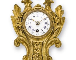 2502. french | a gilt brass louis xv-style cartel clockcirca 1880