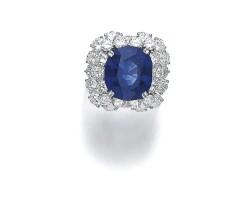 37. sapphire and diamond ring