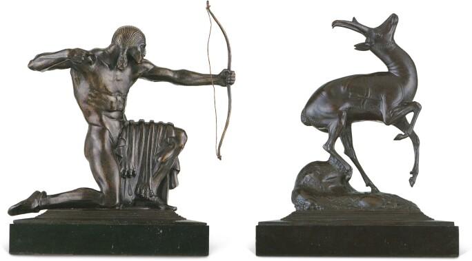 Paul Manship, Indian Hunter and Pronghorn Antelope, 1914