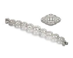 10. diamond bracelet and brooch