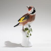 15. a meissen figure of a goldfinch circa 1745