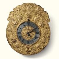 4. a gilt brass and painted metal telleruhr clock,austrian, 17th century, the movement signedalbrecht erb/inn wienn  