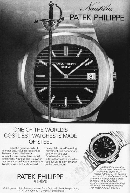 PATEK NAUTILUS VINTAGE AD WATCH TIME 1976.jpeg