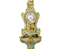44. a fine louis xv ormolu mounted corne verte quarter repeating bracket clock, les frères humbert french, circa 1740
