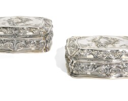 317. a pair of george iii silver-gilt caskets, lewis herne and francis butty, london, 1761