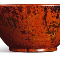 3004. a mingei crafted lacquer bowl japan, 20th century |