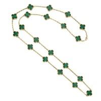 1630. malachite necklace, 'alhambra', van cleef & arpels