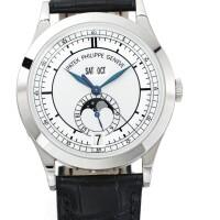 47. 百達翡麗(patek philippe) | 5396型號白金自動上鏈年曆腕錶備日期及月相顯示,2008年製。