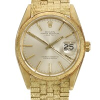 1. rolex | date, reference 1507 yellow gold wristwatch with date and bracelet circa 1964