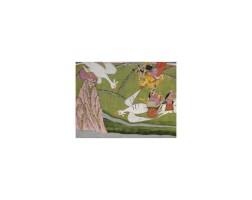 15. an illustration from the harivamsa: pradyumna rescues a damsel