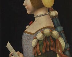 43. circle of leonardo da vinci   portrait of a lady in profile