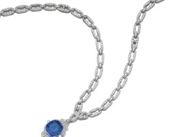 486. impressive colour change sapphire and diamond sautoir, 1930s