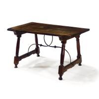 28. a spanish walnut table 18th century