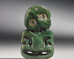 105. maori nephrite pendant, new zealand