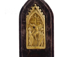 5. a gothic ivory tablet french, 14th century