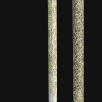 225. a dervish crutch and scabbard with mughal jade handle and ottoman mounts, india and turkey, 18th century