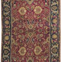 19. an isphahan carpet, central persia