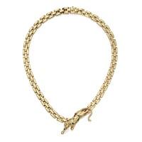 1606. karat gold, emerald and onyx 'panther' necklace, cartier