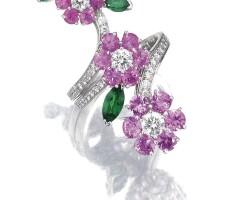 34. gem-set and diamond ring, van cleef & arpels