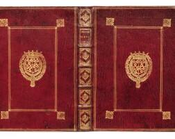 135. boileau. œuvres diverses... paris, 1674. in-4. maroquin rouge aux armes du grand dauphin, fils de louis xiv.