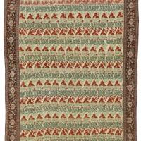 19. an unusual senneh rug, west persia