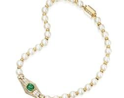 10. 祖母綠配養殖珍珠及鑽石項鏈, 寶格麗(bulgari)