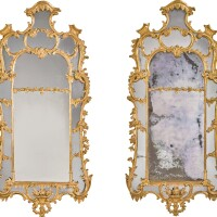27. a pair of george ii carved giltwood pier mirrors, circa 1755, manner of john linnell |