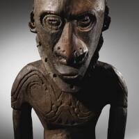 13. statue, région du village de watam, embouchure du sepik, papouasie-nouvelle-guinée  