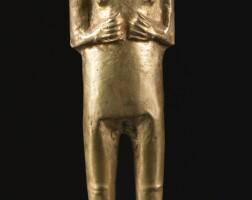 3. inca gold female figure, ca. a.d. 1470-1532