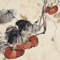 535. 王雪濤 1903-1982 | 秋瓜竹蟲