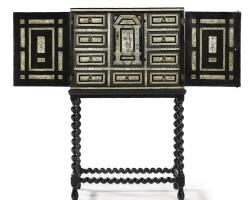 8. an italian bone and ebony cabinet on stand 17th century