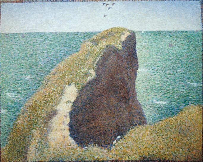 Le Bec du Hoc, Grandcamp 1885 by Georges Seurat 1859-1891