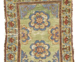 42. a khotan rug, east turkestan