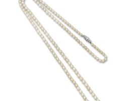 1704. 天然珍珠配鑽石項鏈