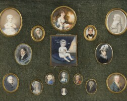 159. a set of 16 miniatures with 15 on ivory, dated between 1760 and 1840 | a set of 16 miniatures with 15 on ivory, dated between 1760 and 1840