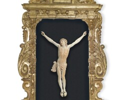 33. a large ivory figure of corpus christi, french, probably dieppe, late 19th century