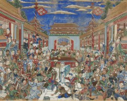 7. a chinese export painting, qing dynasty, late 19th century