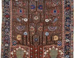 45. a neriz rug, southwest persia