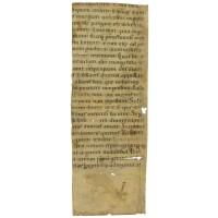 1. cutting from a lectionary, in latin, on vellum