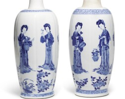 8. two blue and white vases qing dynasty, kangxi period |