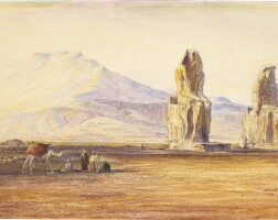 430. edward lear | the colossi of memnon, thebes, egypt