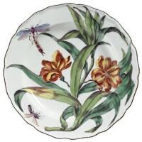 2. a fine chelsea porcelain 'hans sloane' botanical plate circa 1755