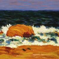 9. roderic o'conor | seascape, orange and red rocks