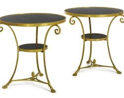 33. a pair of louis xvi style gilt-bronze guéridons