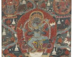 907. a paubha depictingbuddhakapala nepal, 18th century |