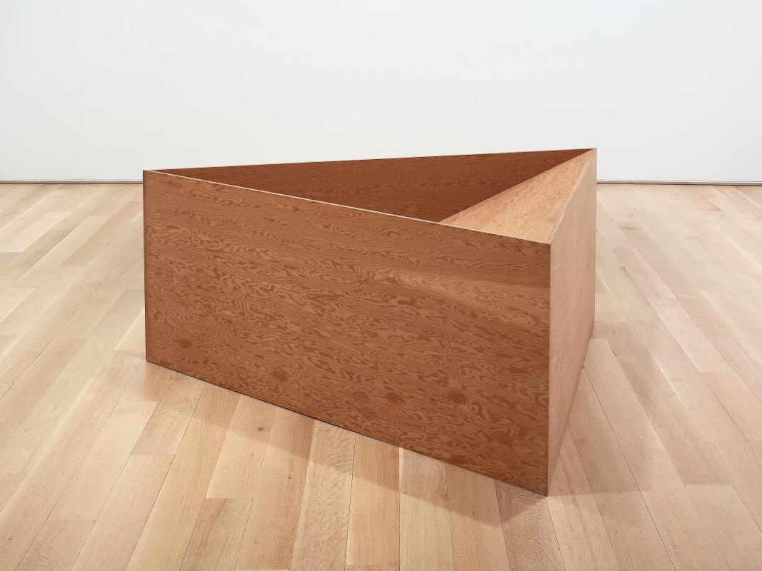 Untitled. Donald Judd; American, 1928-1994. Date: 1976. Dimensions: 91.5 × 233 × 214.6 cm (36 × 91 3/4 × 84 1/2 in.). Douglas fir plywood (3/4 inch). Origin: United States. Museum: The Art Institute of Chicago