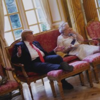 506. alison jackson | trump and queen have cucumber sandwiches, 2018