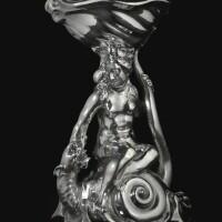 10. 《葛拉蒂與海怪》荷蘭銀製鹽瓶,亞當·凡·維安寧製造,烏特勒支, 1624年 |